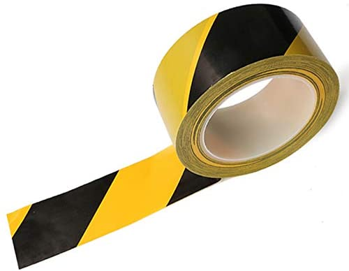 Caution PVC Roll Tape Black Yellow Transparent Safety Tape 2