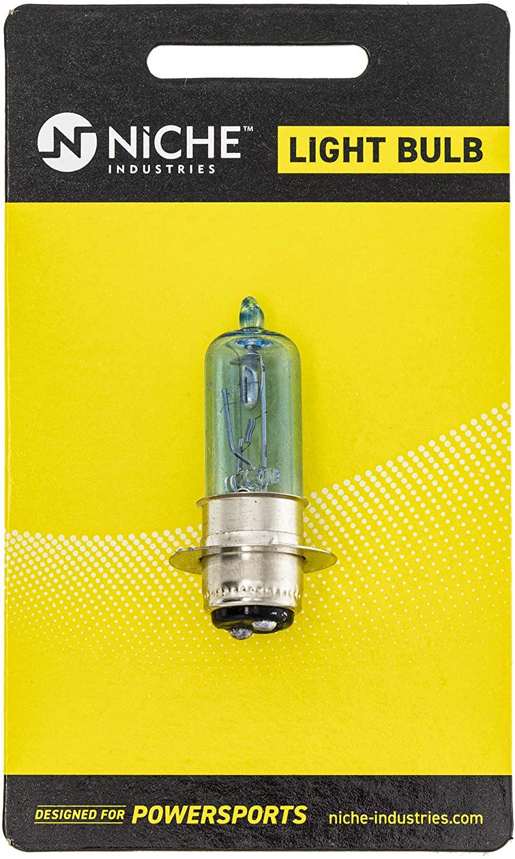 NICHE Headlight Bulb For Yamaha Kodiak 450 Honda FourTrax 300 Foreman 400 450 Rancher 400 Suzuki Kawasaki Can-Am
