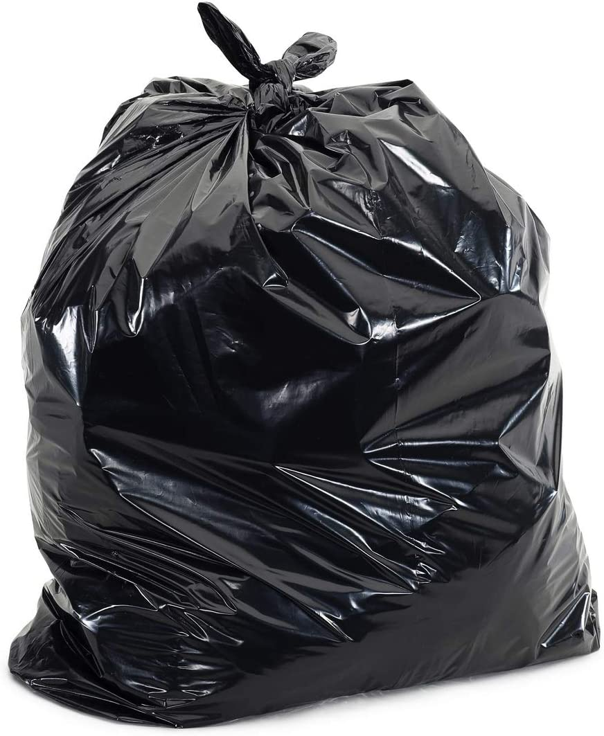 Plasticplace 25-30 Gallon Trash Bags │ 1.7 Mil │ Black 3 Ply Garbage Can Liners │ 30