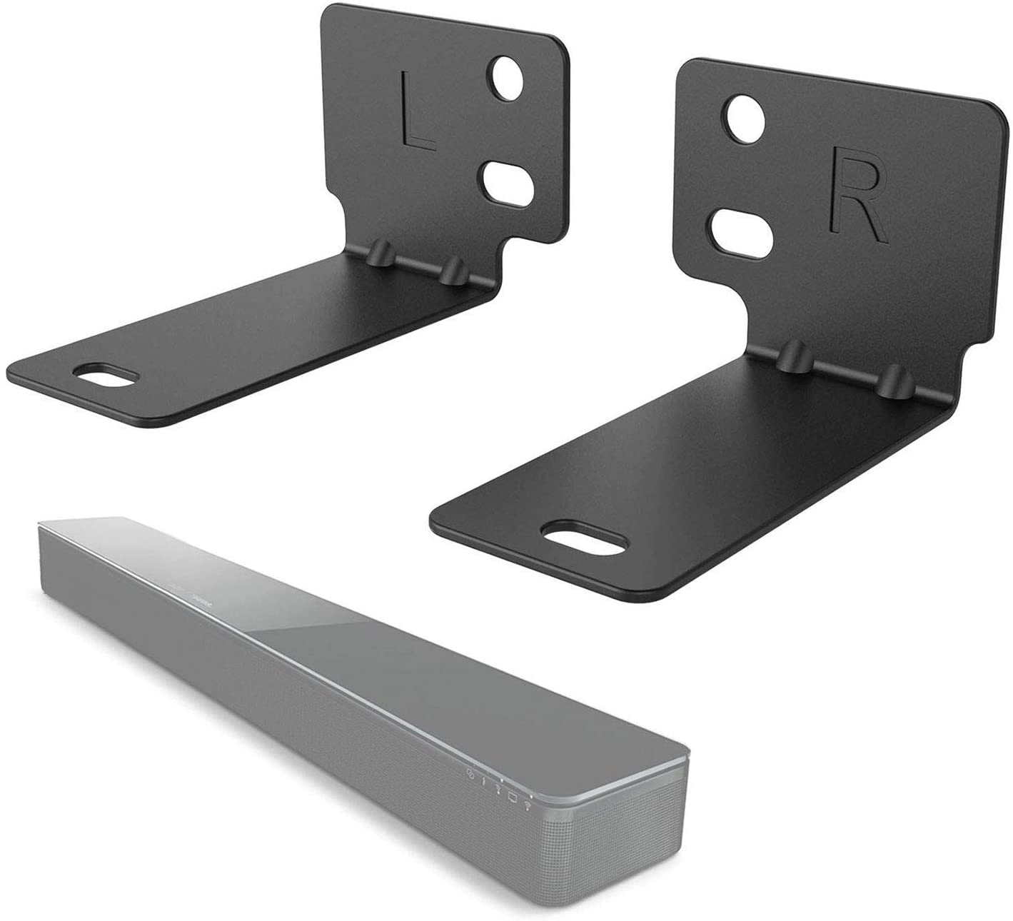 WALI Bose Sound Touch 300, Soundbar 500 and Soundbar 700 Sound Bar Speaker Wall Mount Bracket Holder Stands (BSM002), Black