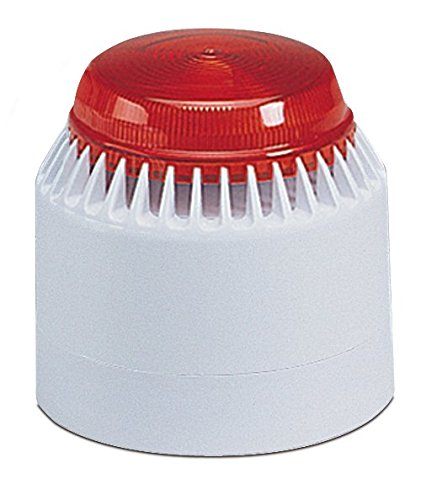 Federal Signal LP7-18-30R Streamline Low Profile Combination Sounder/Strobe, 18-30 VDC, Red