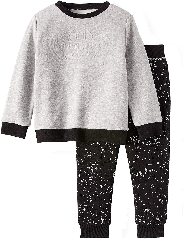DC Comics Batman Sweatshirt and Fleece Jogger Pants Toddler Boys 2 Piece Outfit Set