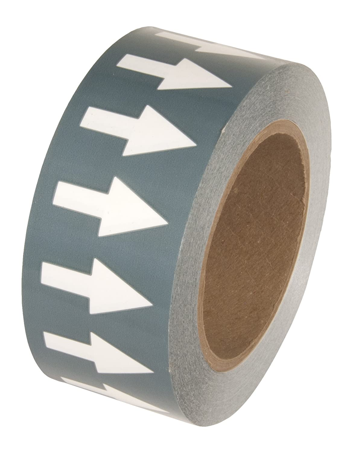 INCOM Manufacturing: PMA2511 Directional Flow Arrow Pipe Identification Vinyl Marking Adhesive Tape, 2 inch x 108 ft, Gray/White
