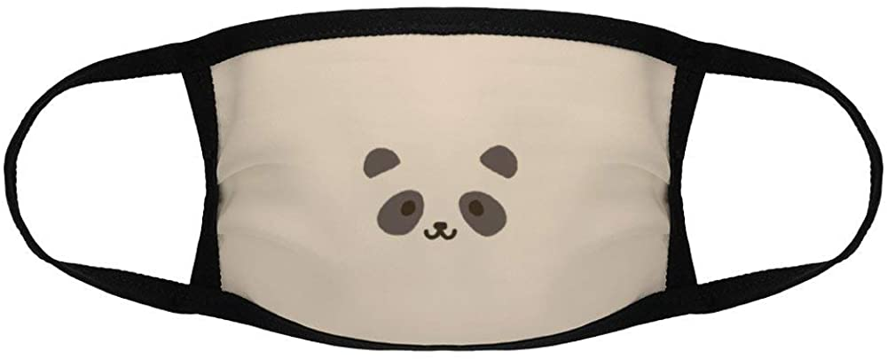 Lplpol Cute Panda Face Childrens M-outh Mask, Washable Reusuable Kawaii Anti Dust Mask for Boys and Girls