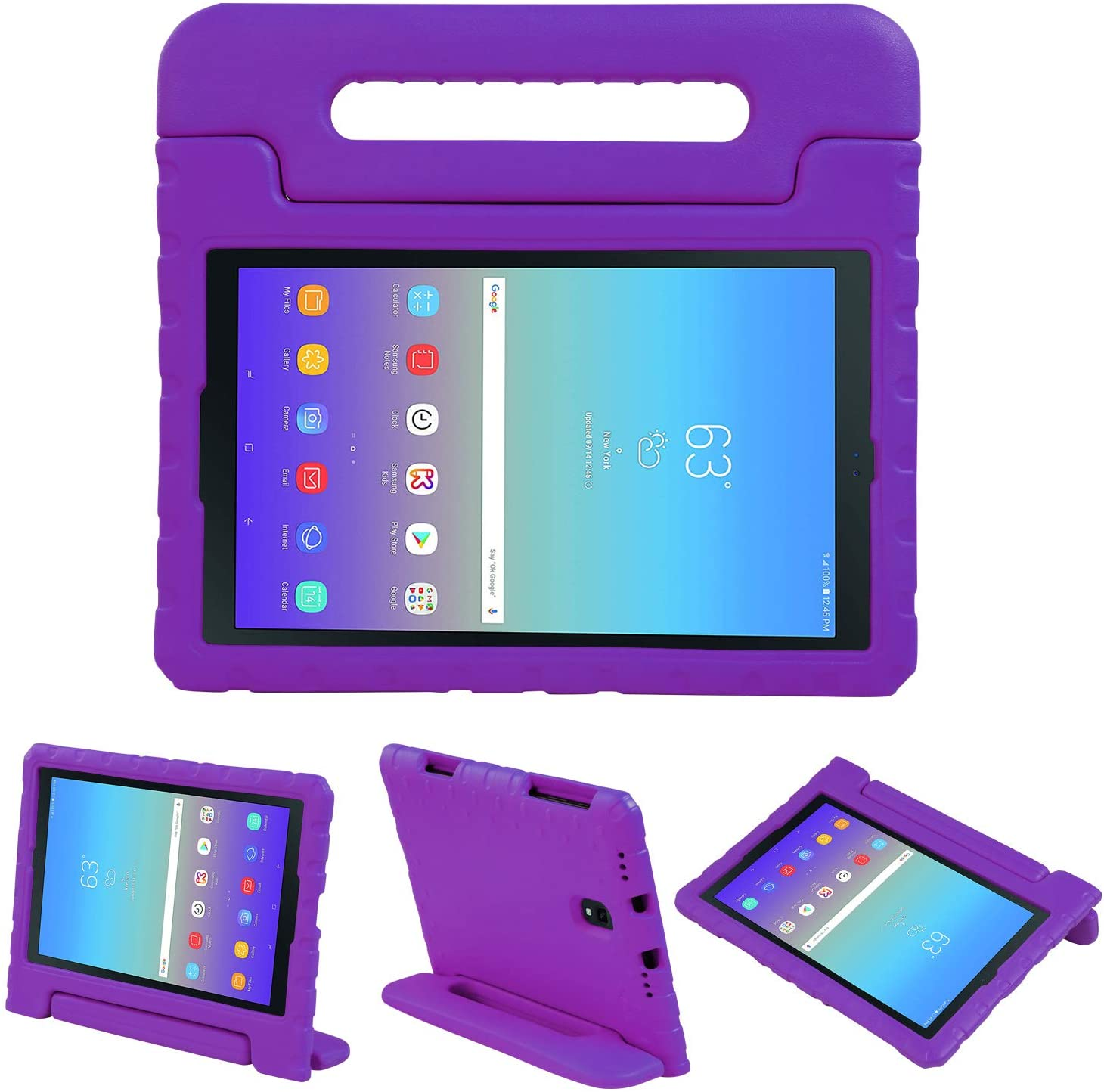 NEWSTYLE Kids Case for Samsung Galaxy Tab A 10.5 Inch 2018 - Shockproof Light Weight Protective Handle Stand EVA Kids Case for Samsung Galaxy Tab A 10.5 2018 Model SM-T590 T595 T597 (Purple)
