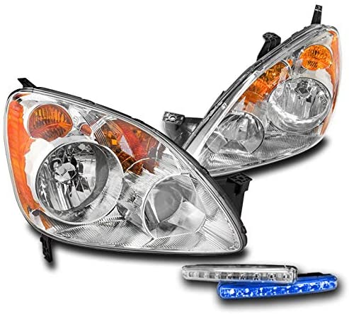 ZMAUTOPARTS Replacement Headlights Headlamps Chrome with 6