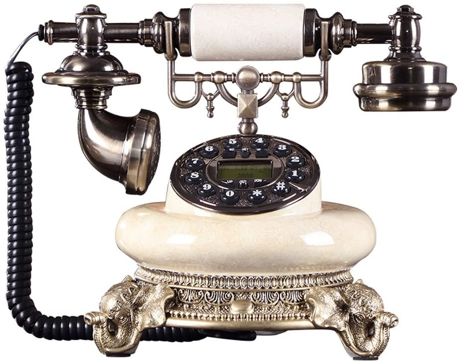 Retro European-Style Telephone Creative Antique Decoration Home and Office Wired Landline Caller ID