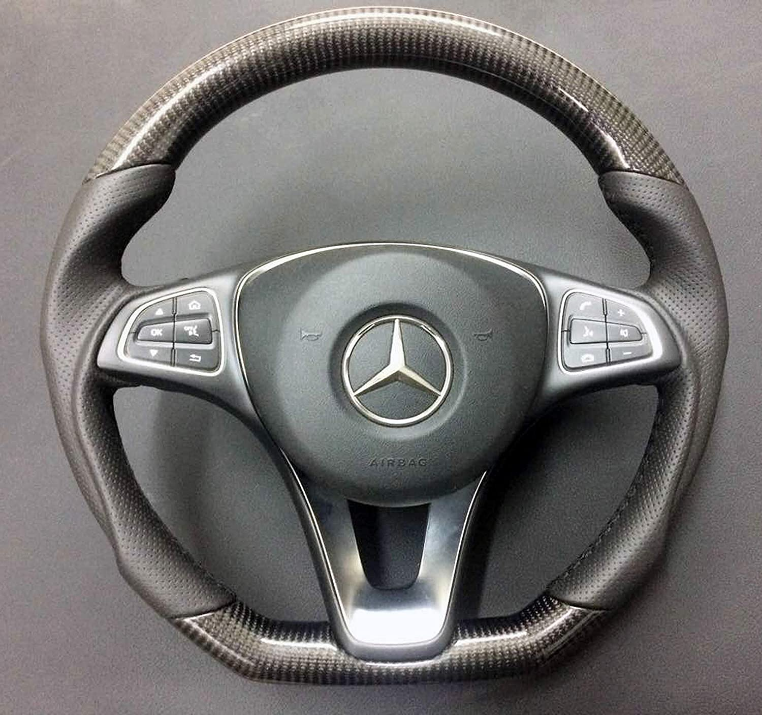 Carbon Fiber Steering Wheel W205 C-Class Mercedes-Benz and Other Models