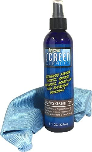 Screen Cleaner Kit - Laptop, LCD, LED Spray - 8 Oz Travel Bottle with Microfiber Cloth