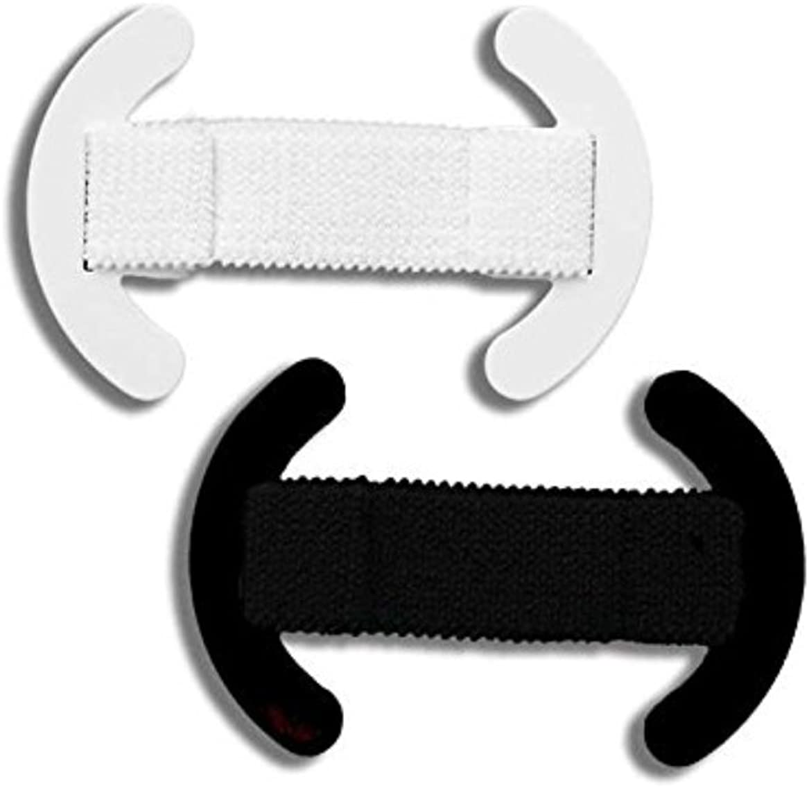 Bra strap clip made for comfort 2pk stretch holder retainer anti-slip shoulder control concealer hides gives added lift and support size 1 Black/White 100% USA Made patented