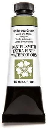 DANIEL SMITH 19093 Extra Fine Watercolor 15ml Paint Tube, Undersea Green