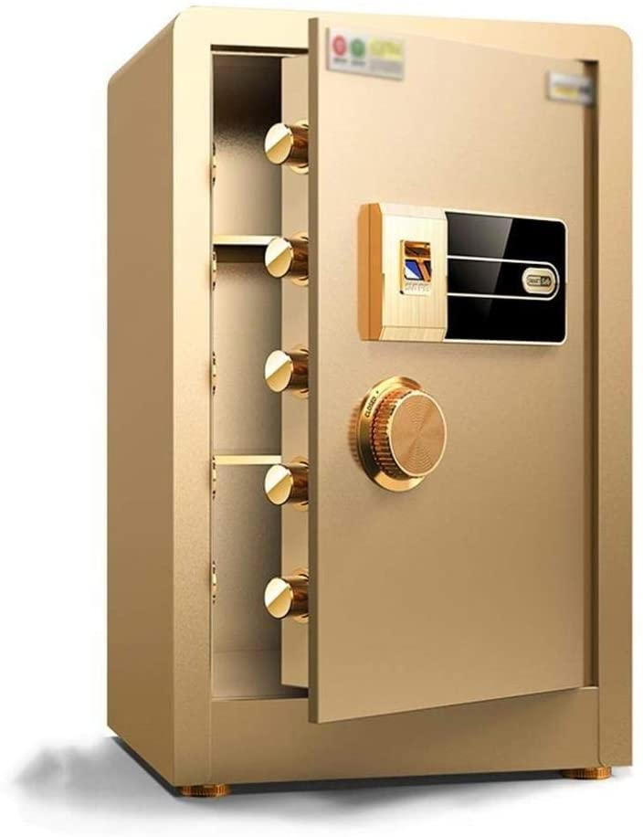 ZBY Safe Boxs Safe Box Safe Home Fingerprint Password Cabinet Office All Steel Wall Safe Anti-Theft Safe Box Small Safe,Electronic Safe, Cash Box, Cabinet Safes for Id Papers, A4 Documents, Laptop Co