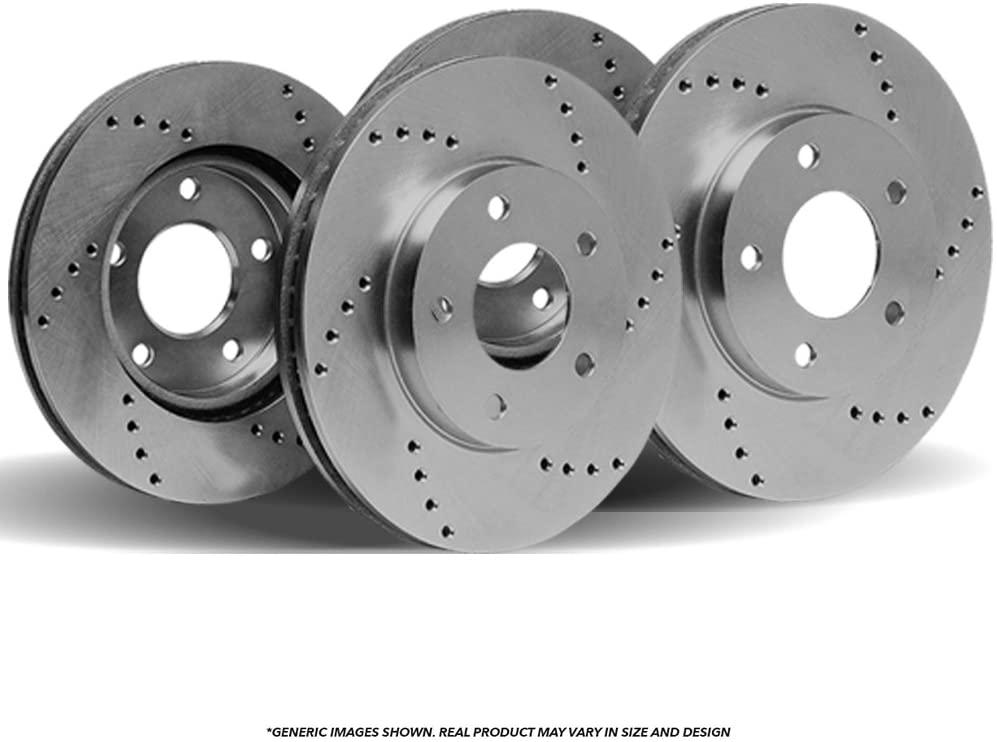 (Front+Rear Rotors)4 OE SPEC Cross Drilled Brake Rotors(Fits: Mazda)(5lug)