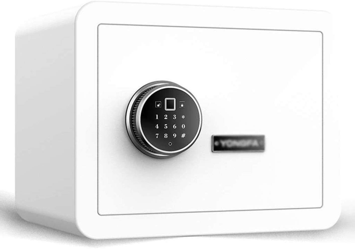 Safes Safes Electronic Home With Medium Anti-Theft Fingerprint Office Password Cabinet Safes (Color : White, Size : 383030cm)