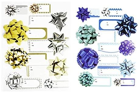 Set of 18 Self-Adhesive Christmas Gift Tag Stickers! 6.5
