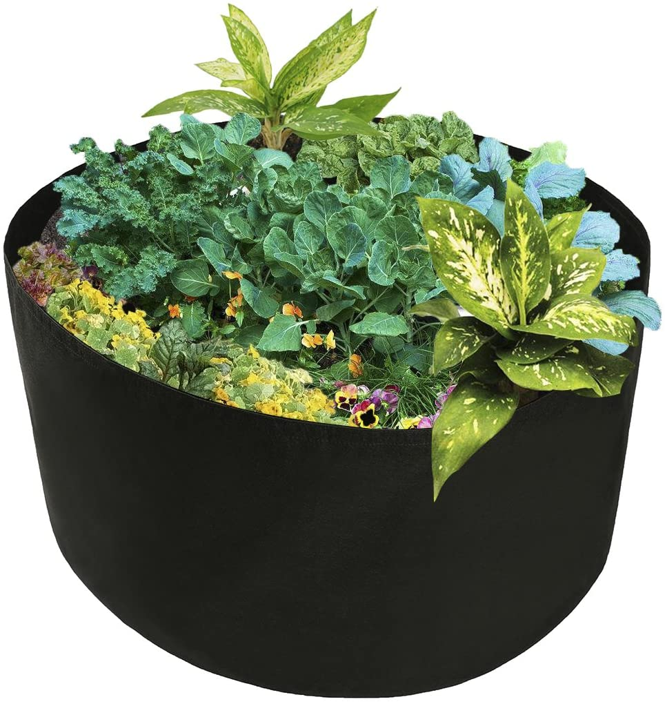Xnferty 150 Gallons Extra Large Round Raised Garden Bed, Deep Soil Diameter 46