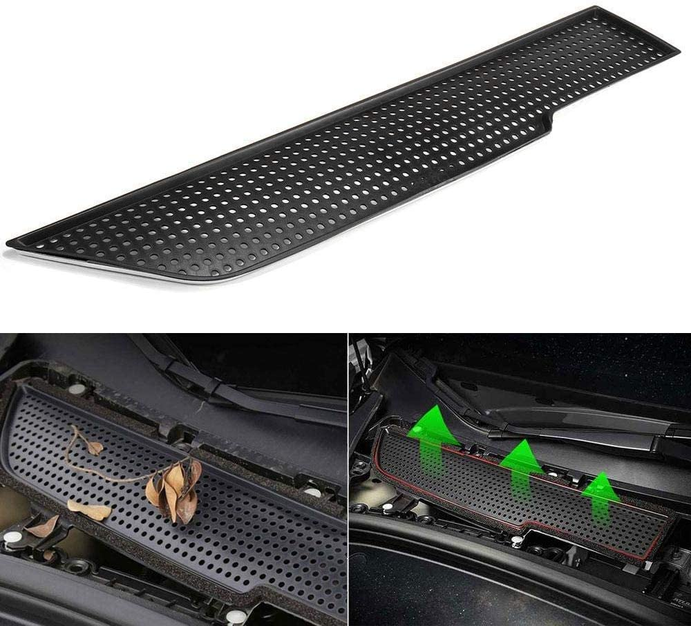 Model 3 Vent Cover, Air Flow Protection Cover ABS Plastic Air Vent Intake Air Conditioning Air Intake Grille Inlet Cover for 2017-2019 Tesla Model 3