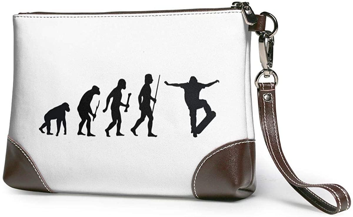 The Evolution Of Skate Leather Clutch Fashion Handbag Phone Wristlet Purse