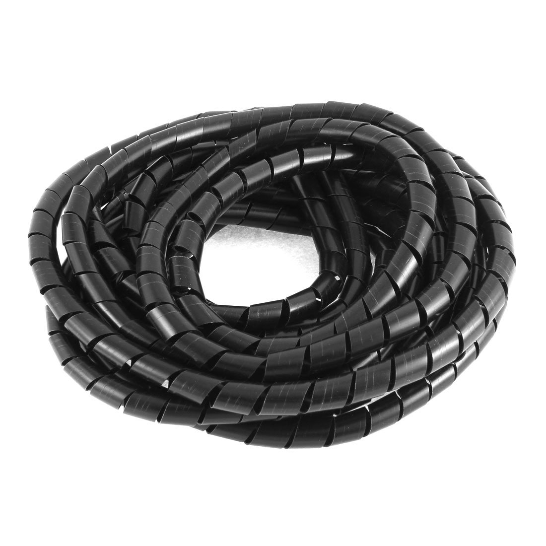 uxcell Cinema TV Organizer Cable Wire Wrap Spiral Wrapping Band 12mm 7M Black