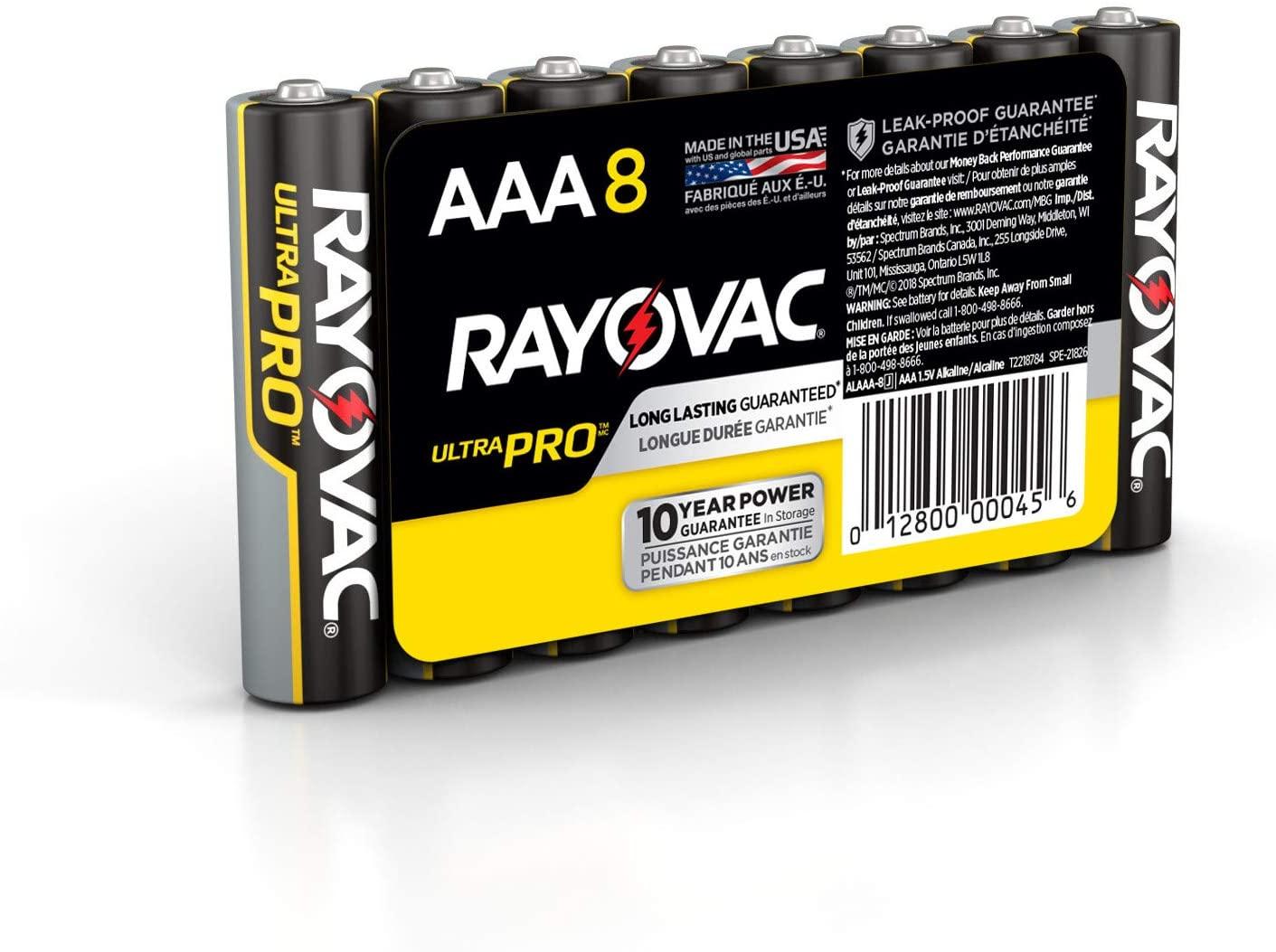 Rayovac AAA Batteries, Ultra Pro Alkaline AAA Cell Batteries (8 Battery Count)