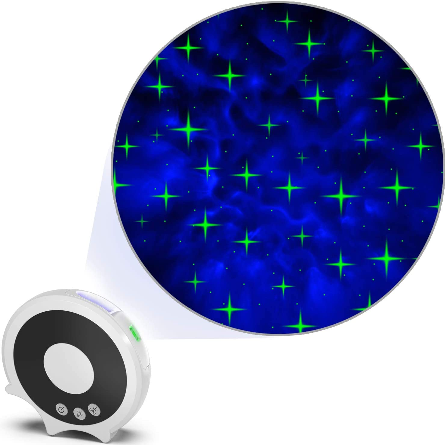 Night Lights for Room, STARRY Night Light Projector, LED Nebula Projector, Laser Starlight Projector, Cross Star Galaxy Projector for Kids, Bedroom, Room Decoration and Ambiance Enhance
