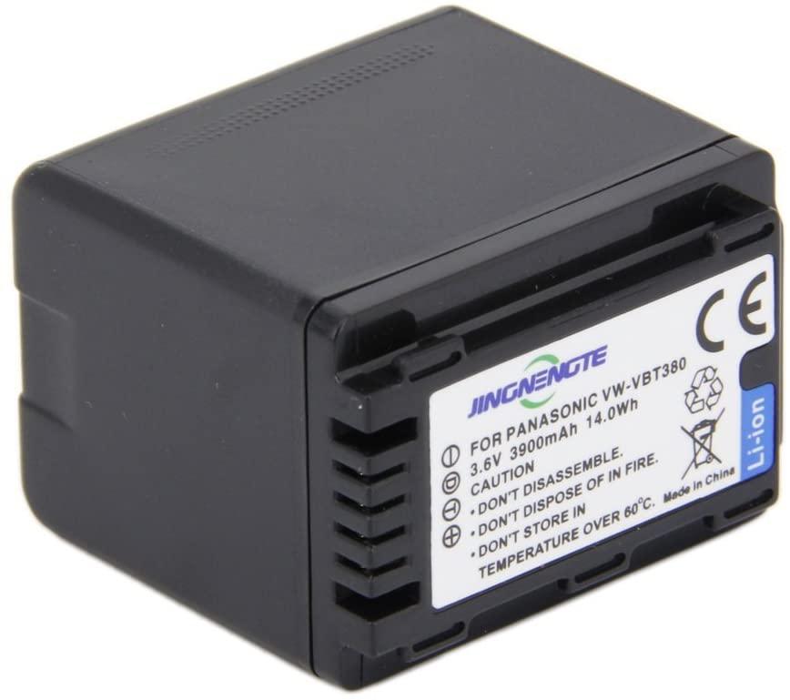 JINGNENGTE VW-VBT380 3900mAh Camcorder Lithium-Ion Battery Pack Full Decoded For Panasonic V720 710 V520 510 V210 V110 VW-VBT190 VW-VBT380-K
