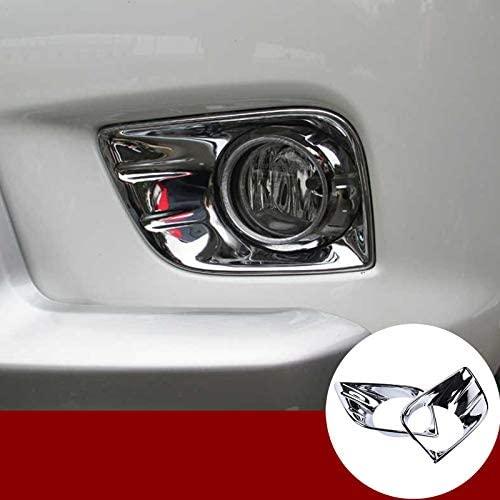 Wroadavee ABS Chrome Front Fog Light Lamp Cover Trim for Toyota Prado FJ150 2010-2013