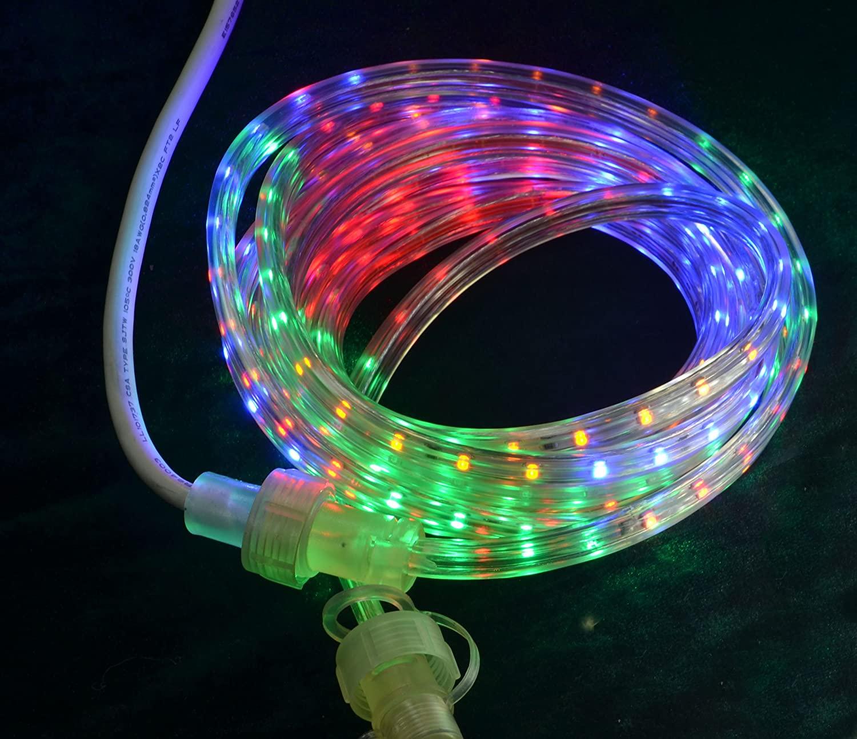 AngelLoveFly Christmas Light, 18' Multicolor LED Rope Light