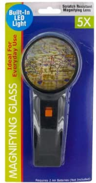 Light-Up 5X Magnifying Glass-Package Quantity,24
