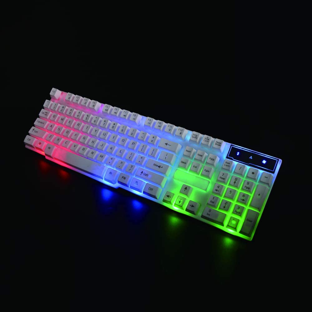 Home and Office Colorful Lighting Keyboard and Mouse Combo