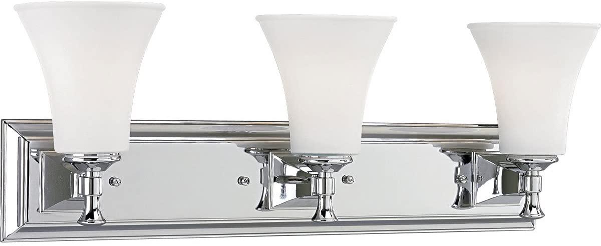Progress Lighting P3133-15 3-Light Bath Fixture, Polished Chrome