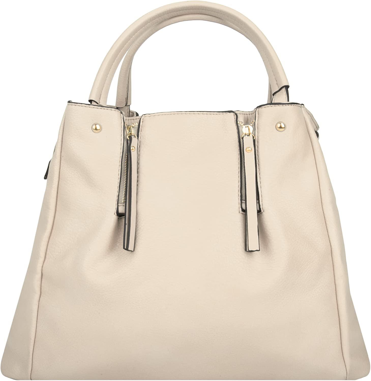 Egg Shell White VG Women's Modern Alice Business Top Handle Hand Bag
