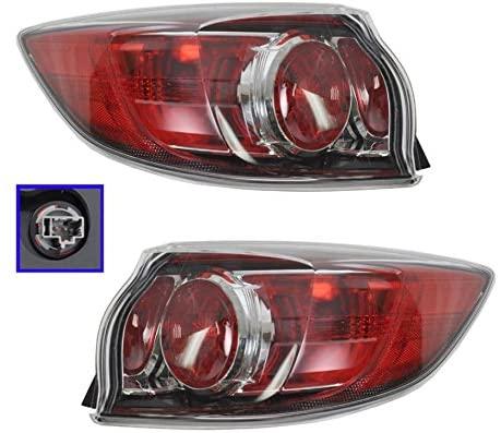 Standard Rear Brake Light Taillight Pair Set for 10-13 Mazda 3 Mazda3 Hatchback