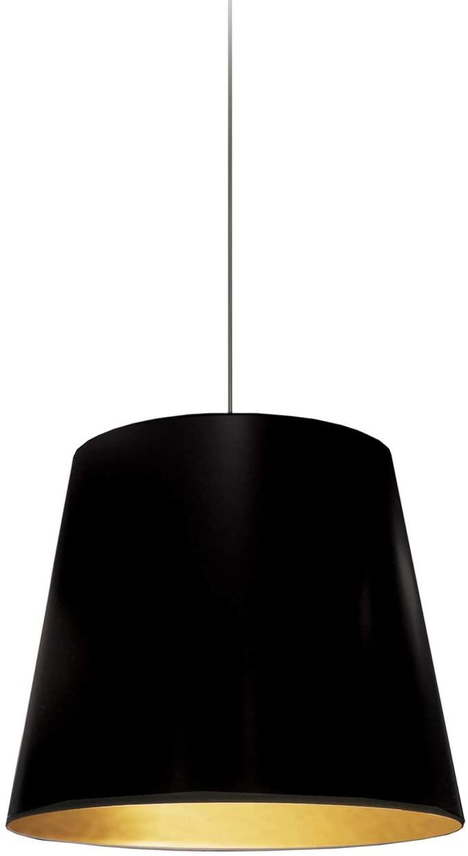 Dainolite One Light Pendants, Black