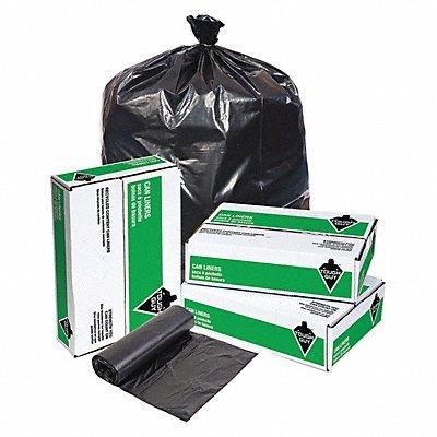 TOUGH GUY Recycled Trash Bags 10 gal. Black PK250