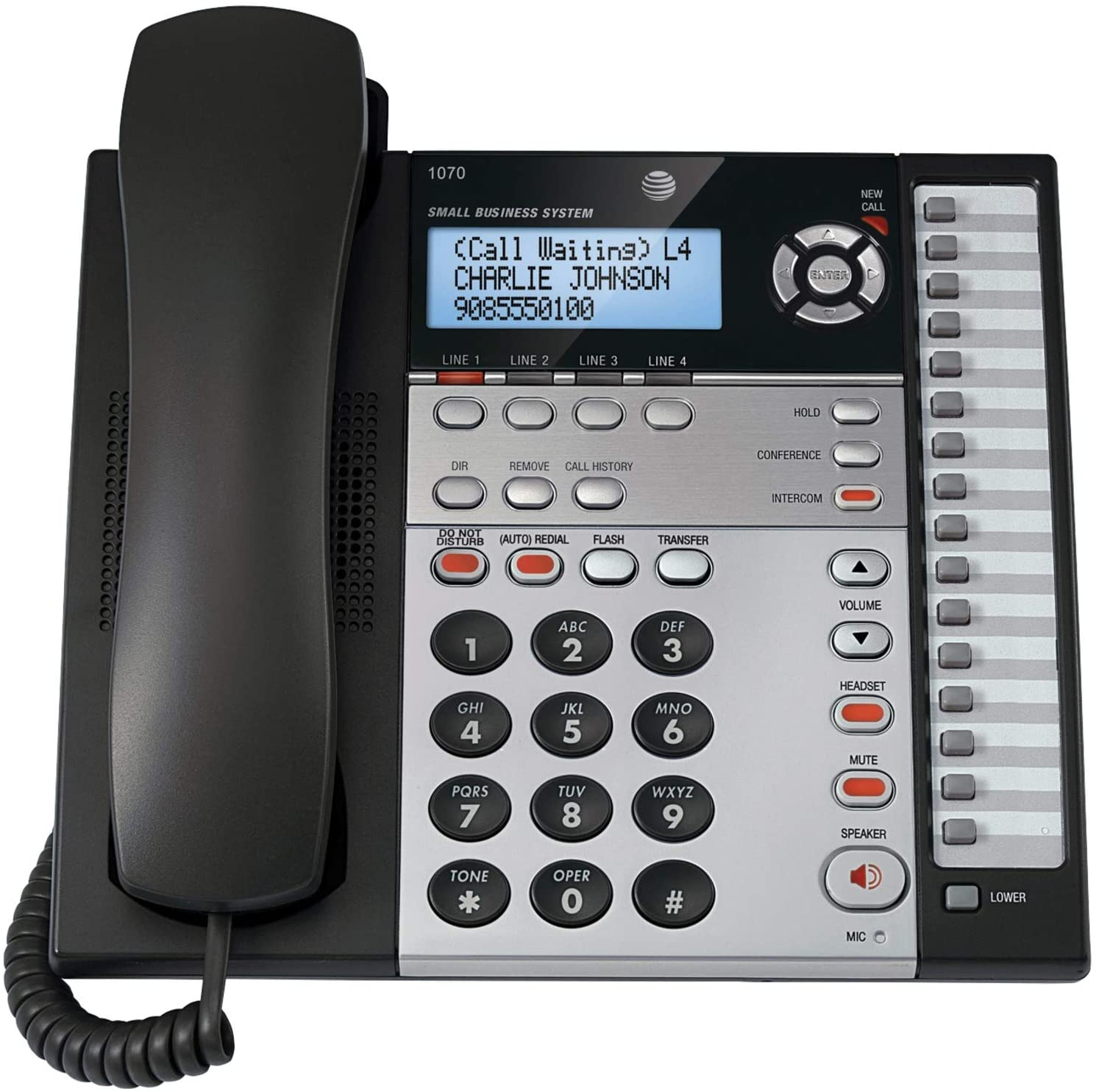 AT&T 1070 1070 Corded Four-Line Expandable Telephone, Caller ID
