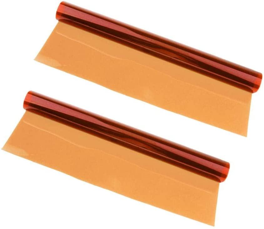 2X Universal Flash Gels Lighting Filter Kit for Camera Flash Light, Transparent Color Correction Lighting Film Plastic Sheets Red