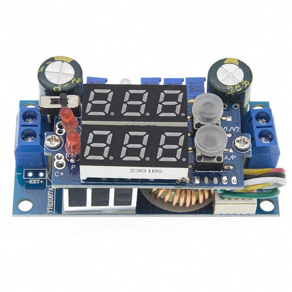 5A MPPT Solar Panel Controller DC-DC Step-Down CC/CV Charging Module Display LED