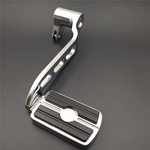 XKH- Motorcycle Chrome Billet Rear Brake Lever Brake Pedal Foot Lever with Skull Foot Peg 3 Hollow-Out Compatible with 2014-later Touring Trike Road King Street Glide CVO Tri Glide FLHR [B01JA1ZOKK]