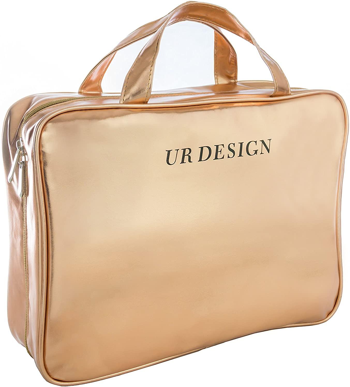 Toiletry Travel Bag Makeup Bag Travel Kit Case Large Size Rose Gold, By UR DESIGN