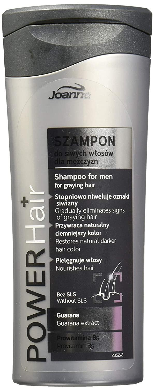 Joanna Power Hair Men Shampoo Grey Hair Gradually Eliminate Graying Hair 200ml