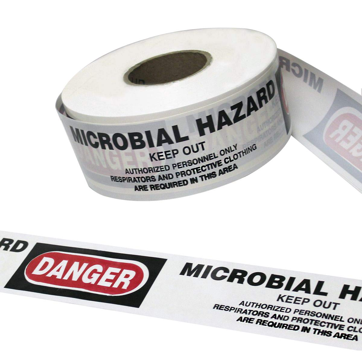 Harris Industries, Inc. BT-44-1000-2mil 3in x 1000ft Danger Microbial Hazard Do Not Enter Barricade Tape