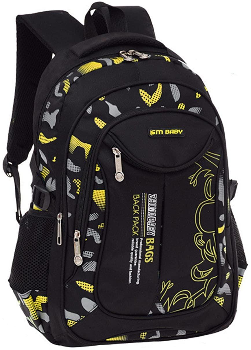 Fanci Flora Camo Prints Elementary Middle High School Backpack Bookbag for Teenage Boys Travel Rucksack Daypack