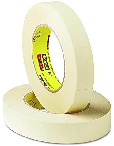 Scotch 2321 232 High-Performance Masking Tape, 24mm x 55m, 3-Inch Core, Tan
