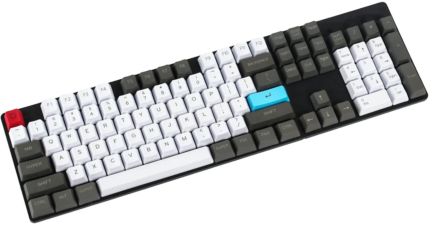 Customized Top Printed 87 104 ANSI Keyset OEM Profile Thick PBT Keycap Set for Cherry MX Switches Mechanical Gaming Keyboard (Only Keycap)