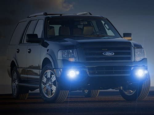 Blinglights BL5000K-Expedition 2007-2014 Ford Expedition White Halo Bumper Fog Lamps Driving Lights Kit