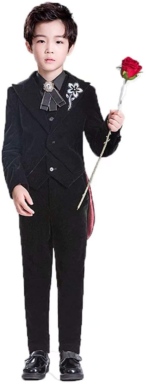 Nainela Kids Tuxedos Boys Dresswear Suit Set 5PC Dress Clothes