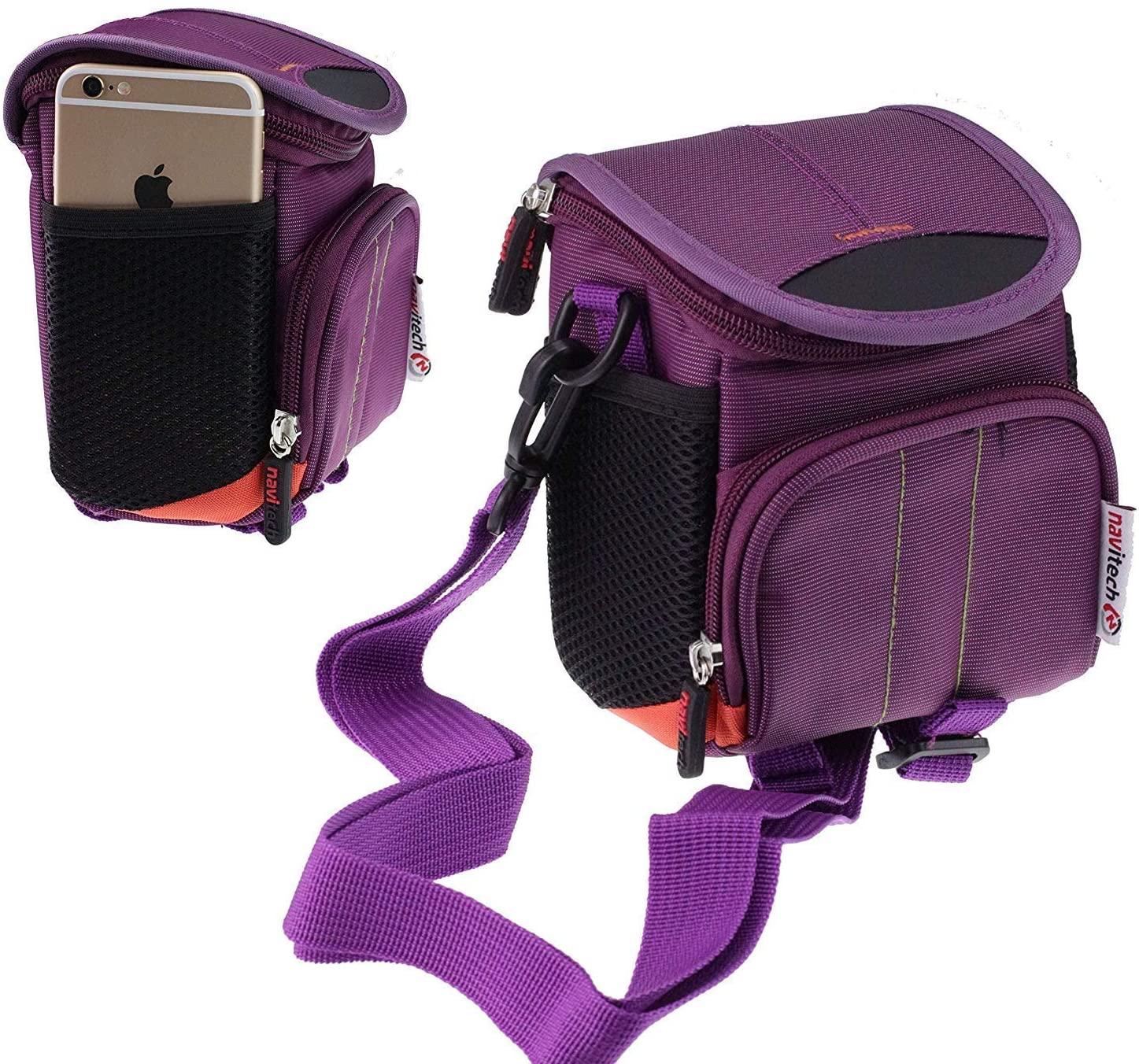 Navitech Purple Portable Binocular Shoulder Bag - Compatible with The Vandeep Binoculars