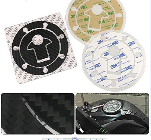 QYA Practical Motorbike Accessories Carbon Fiber Motorcycle Fuel Tank Cap Cover Heat Shield Insulation Protective Sticker Protector for KTM 200 390 Duke 2017 2018 Sturdy Material