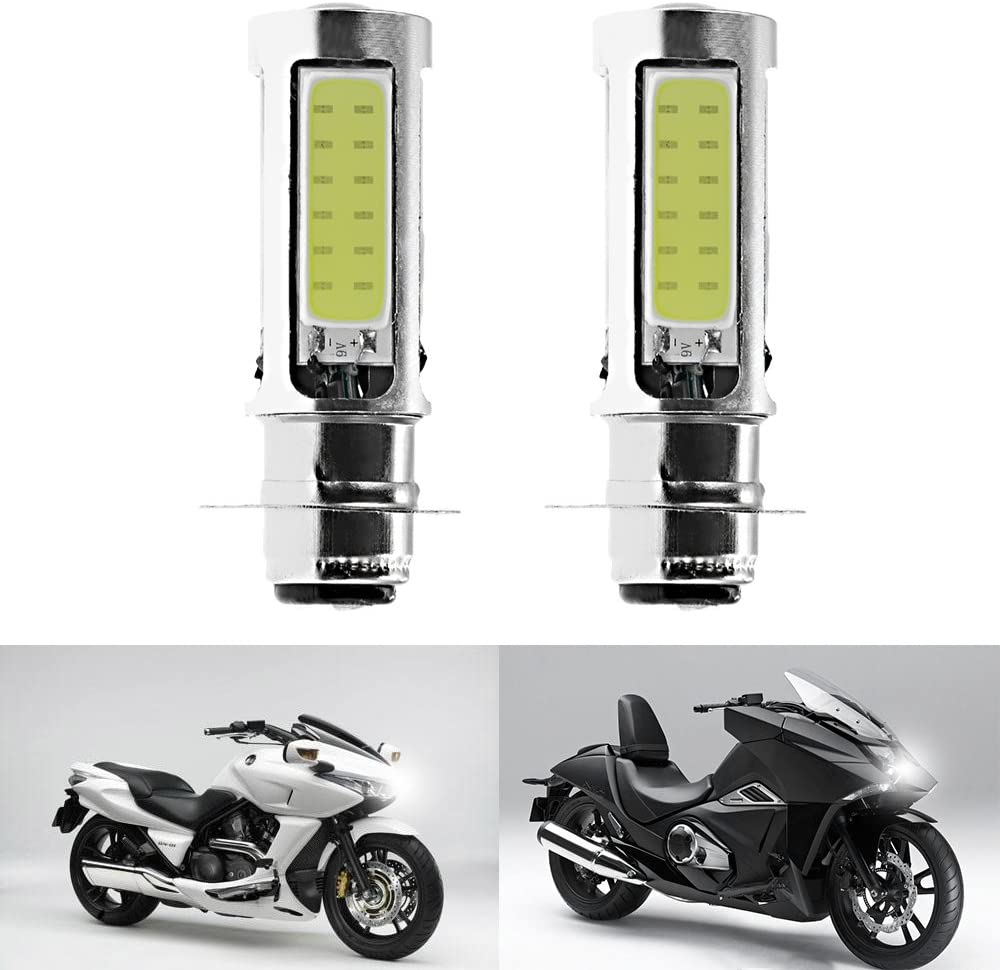 H6M LED Headlight Bulbs Super White Replacement for TRX 400EX 400X Sportrax (Pair)